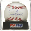 Autographs:Baseballs, Ernie Banks Single Signed Baseball PSA Mint+ 9.5....