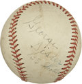 Autographs:Baseballs, George Sisler And Pepper Martin Multi Signed Baseball....
