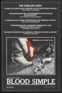 "Blood Simple (Circle Films, 1984). Poster (24"" X 37""). Thriller"
