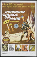 "Movie Posters:Science Fiction, Robinson Crusoe On Mars (Paramount, 1964). One Sheet (27"" X 41"").Science Fiction.. ..."