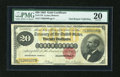 Large Size:Gold Certificates, Fr. 1178 $20 1882 Gold Certificate PMG Very Fine 20....