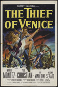 "Movie Posters:Adventure, The Thief of Venice (20th Century Fox, 1952). One Sheet (27"" X41""). Adventure.. ..."