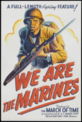 """Movie Posters:War, We Are The Marines (20th Century Fox, 1942). One Sheet (27"""" X 41"""").War.. ..."""