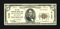National Bank Notes: , Huntington, WV - $5 1929 Ty. 1 The First NB Ch. # 3106...