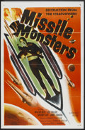 """Movie Posters:Science Fiction, Missile Monsters (Republic, 1958). One Sheet (27"""" X 41"""")Flat-Folded. Science Fiction.. ..."""