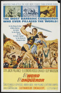 "Movie Posters:Adventure, Sword of the Conqueror (United Artists, 1962). One Sheet (27"" X41""). Adventure.. ..."