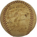 Autographs:Baseballs, 1950 Philadelphia Athletics Team Signed Baseball. ...