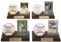 Autographs:Baseballs, Baseball Stars Single Signed Baseball Lot Of 11. ...