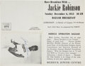 Autographs:Others, Jackie Robinson Signed Advertisement....