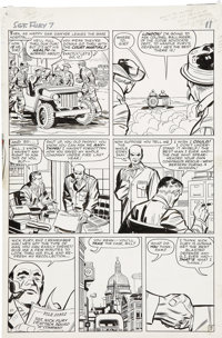 Jack Kirby and George Roussos (as George Bell) Sgt. Fury #7, page 9 Original Art (Marvel, 1964)