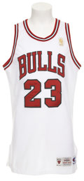 Basketball Collectibles:Uniforms, 1996-97 Michael Jordan Game Worn Jersey....