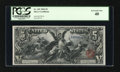 Large Size:Silver Certificates, Fr. 269 $5 1896 Silver Certificate PCGS Extremely Fine 40....