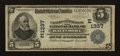 National Bank Notes:Maryland, Baltimore, MD - $5 1902 Date Back Fr. 590 The Farmers &Merchants NB Ch. # (E)1337. ...