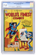 Golden Age (1938-1955):Superhero, World's Finest Comics #52 (DC, 1951) CGC FN/VF 7.0 Cream to off-white pages....