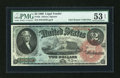 Large Size:Legal Tender Notes, Fr. 42 $2 1869 Legal Tender PMG About Uncirculated 53 EPQ....