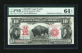 Large Size:Legal Tender Notes, Fr. 122 $10 1901 Legal Tender PMG Choice Uncirculated 64 EPQ....