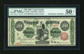 Large Size:Legal Tender Notes, Fr. 126b $20 1863 Legal Tender PMG About Uncirculated 50 Net....