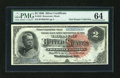 Large Size:Silver Certificates, Fr. 242 $2 1886 Silver Certificate PMG Choice Uncirculated 64....