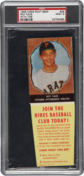 Baseball Cards:Singles (1950-1959), 1958 Hires Root Beer Roy Face, With Tab #59 PSA Mint 9....