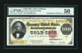 Large Size:Gold Certificates, Fr. 1215 $100 1922 Gold Certificate PMG About Uncirculated 50....