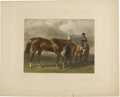 Antiques:Posters & Prints, John Frederick Herring, Sr. Two Prints: Race Horse. [and:] Park Hack. A pair of hand-colored engravings. Both in very go... (Total: 2 Items)