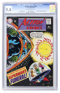 Action Comics #365 (DC, 1968) CGC NM 9.4 Off-white to white pages