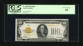 Small Size:Gold Certificates, Fr. 2405 $100 1928 Gold Certificate. PCGS Extremely Fine 45.. ...