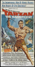 "Movie Posters:Adventure, Tarzan the Magnificent (Paramount, 1960). Three Sheet (41"" X 81"").Adventure.. ..."