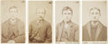 "Photography:CDVs, Group of Four Jersey City Police Department Carte de Visite""Mug"" Shots. ... (Total: 4 Items)"