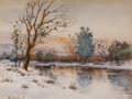 Fine Art - Work on Paper, YULIY YULEVICH (JULIUS) KLEVER (Russian, 1850-1924). Landscape, 1923. Watercolor on paper. 5-1/2 x 7 inches (14.0 x 17.8...