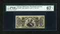 Fractional Currency:Third Issue, Fr. 1338 50c Third Issue Spinner PMG Superb Gem Unc 67 EPQ....
