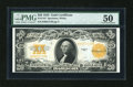 Large Size:Gold Certificates, Fr. 1187 $20 1922 Gold Certificate PMG About Uncirculated 50....