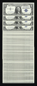 Small Size:Silver Certificates, Fr. 1621* $1 1957B Silver Certificates. Ninety-Six Examples. Gem Crisp Uncirculated.. ... (Total: 96 notes)