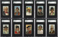 Non-Sport Cards:Sets, 1910-11 T113 Types Of Nations High Grade Complete Set (50)....