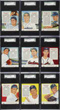 Baseball Cards:Sets, 1955 Red Man Baseball Complete Set (50)....