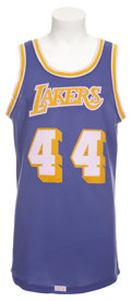 Basketball Collectibles:Uniforms, Circa 1972 Jerry West Game Worn Jersey....