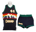 Basketball Collectibles:Uniforms, Early 1980's Dan Issel Game Worn Uniform....