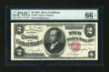 Large Size:Silver Certificates, Fr. 246 $2 1891 Silver Certificate PMG Gem Uncirculated 66 EPQ....