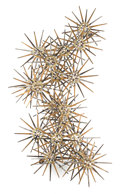 Sculpture, AMERICAN SCHOOL (20th Century). Untitled (Sunburst). Steel and brass. 37 x 18 x 2 inches (94.0 x 45.7 x 5.1 cm)...