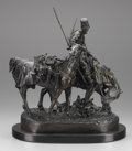 Sculpture, A RUSSIAN BRONZE GROUP OF ZAPOREZH COSSACK AFTER BATTLE. Cast from a model by Evgeni Alexandrovich Lanceray (Russian, 18...