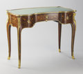 Furniture : French, A FRENCH LOUIS XV-STYLE GILT BRONZE MOUNTED TABLE À ÉCRIRE. PaulSormani (French, 1817-circa 1877), Late 19th Century. Lock ...