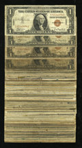 Small Size:World War II Emergency Notes, Fr. 2300 $1 1935A Hawaii Silver Certificates. Fifty Examples. Good or Better.. ... (Total: 50 notes)