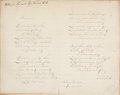 """Autographs:Authors, Samuel Francis Smith Complete """"America"""" Autograph Manuscript Signed """"S. F. Smith"""". One page, 9.75"""" x 7.75"""", May 10, 1893..."""
