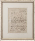 "Autographs:Statesmen, Thomas Danforth Autograph Document Signed ""Tho: Danforth"".One page, April 2, 1659, n.p. [Massachusetts]. This is an agr..."