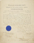 "Autographs:U.S. Presidents, William H. Taft Document Signed ""Wm H. Taft"" as presidentand countersigned by Acting Secretary of the Navy Beekman Wi..."