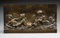 Decorative Arts, French:Other , After CLAUDE MICHEL CLODION (French, 1738-1814). Sea Nymphs andPutti. Bronze. 10-1/2 x 19 inches (26.7 x 48.3 cm). Insc...