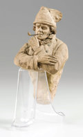 Fine Art - Sculpture, European:Antique (Pre 1900), PIERRE ADRIEN GRAILLON (French, 1809-1872). Un Marin au Treport(The Mariner from Treport). Terracotta. 7 inches (17.8 c...