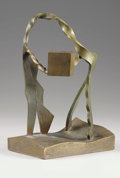 Bronze:Contemporary, M. CAIN (American, 20th Century). Abstract Forms, 1992. Bronze. 11-3/4 inches (29.8 cm) high. Signed and dated underside...