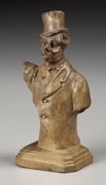 Fine Art - Sculpture, European:Antique (Pre 1900), E. DARBOULY . Caricature of an English Gentleman. Tractate. 5-1/4 inches (13.3 cm) high. Signed verso: E. Darbouly. ...