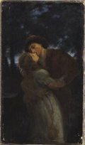 Fine Art - Painting, European, WILLIAM A. BREAKSPEARE (British, 1855-1914). NocturnalSeductions. Oil on canvas. 17-1/2 x 10 inches (44.5 x 25.4 cm).S...